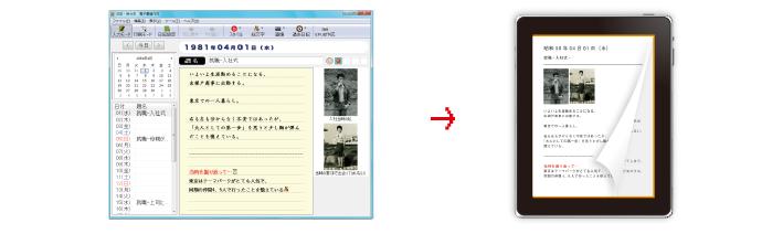 日記・自分史を作成して電子書籍で楽しむ