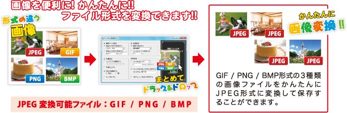 画像を便利に!かんたんに!!ファイル形式を変換できます!!
