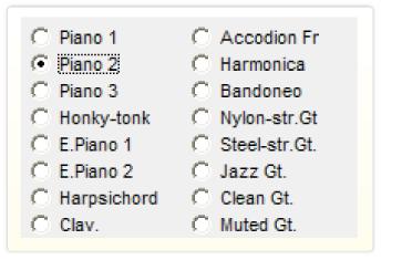 音色選択画面