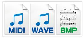 MIDI / WAVE / BMP