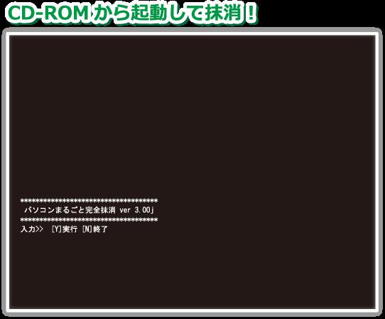 ソフトをCD-ROMから起動させる