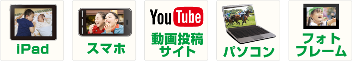 作成した動画を様々な方法で楽しむ!