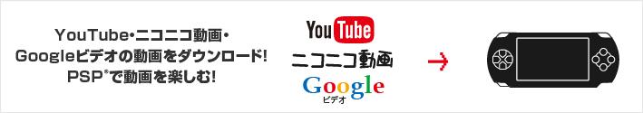YouTube・ニコニコ動画・Googleビデオの動画をダウンロード!PSPで動画を楽しむ!