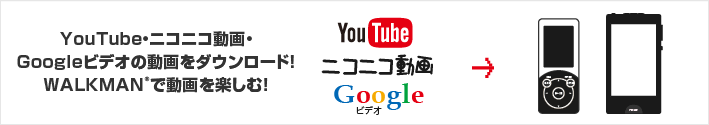 YouTube・ニコニコ動画・Googleビデオの動画をダウンロード!WALKMANで動画を楽しむ!