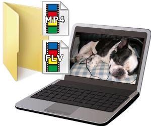 MP4 / MP3をパソコンに保存